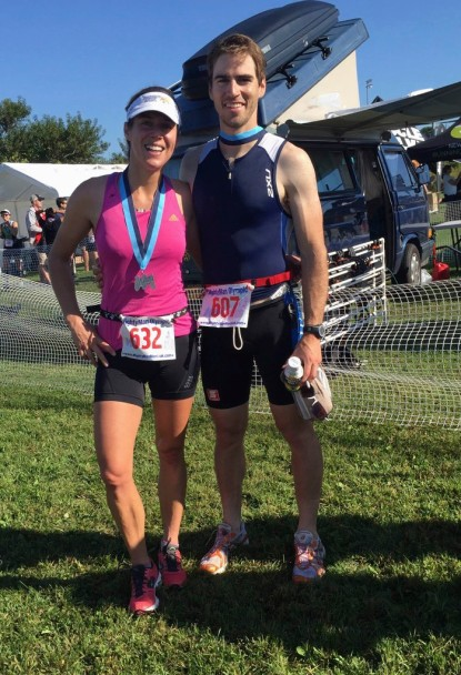 The Mightyman Montauk Triathlon Finish Area, Sept 2014