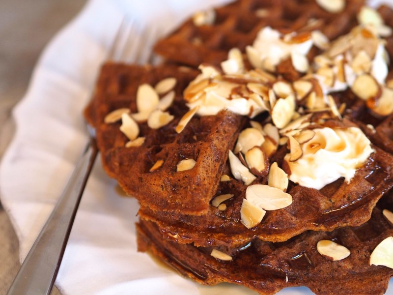 Delicious carrot waffles!