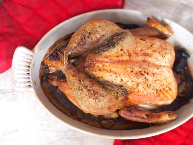 Roasted Chicken for Chicken Soup