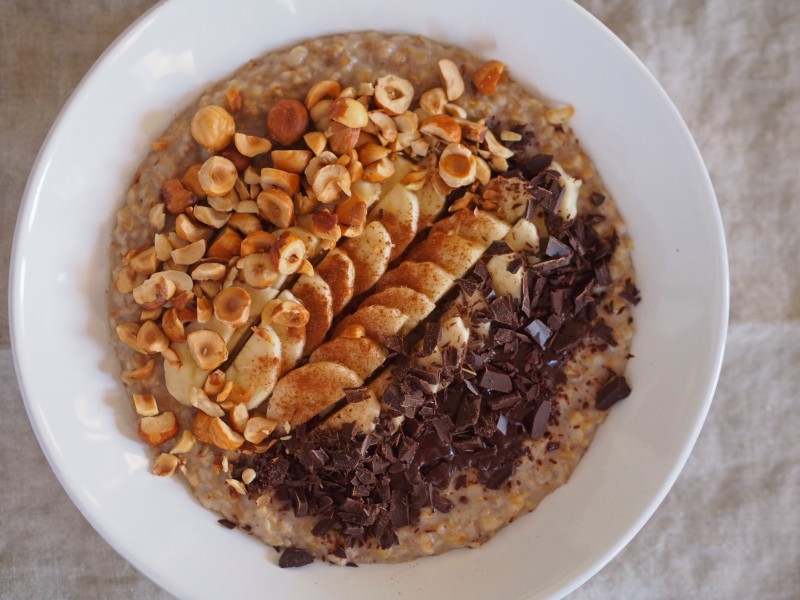 Overnight Oats with Deconstructed Nutella