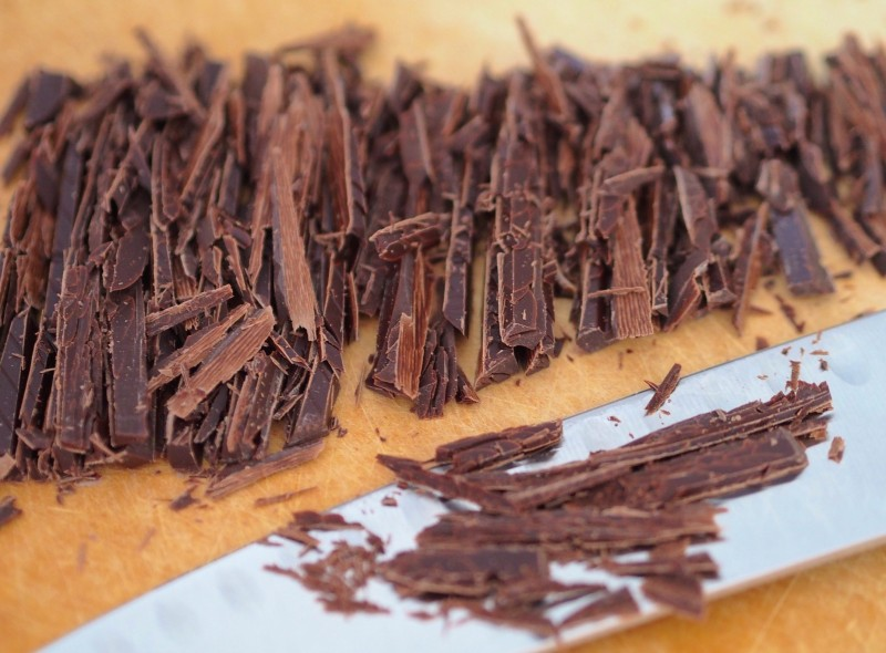Chopped Dark Chocolate for Deconstructed Nutella