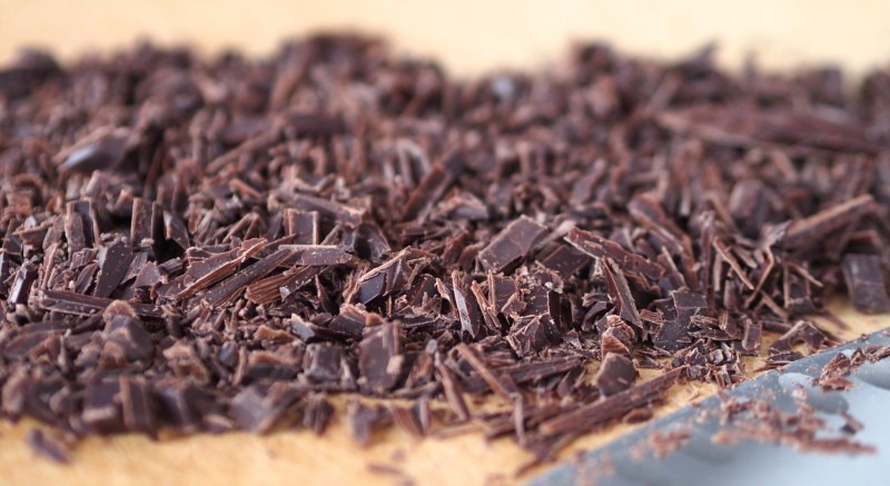 Finely Chopped Dark Chocolate for Deconstructed Nutella