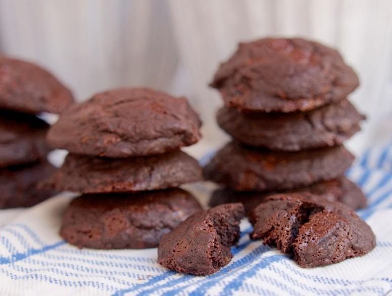 Double Chocolate Cookies with Orange Zest