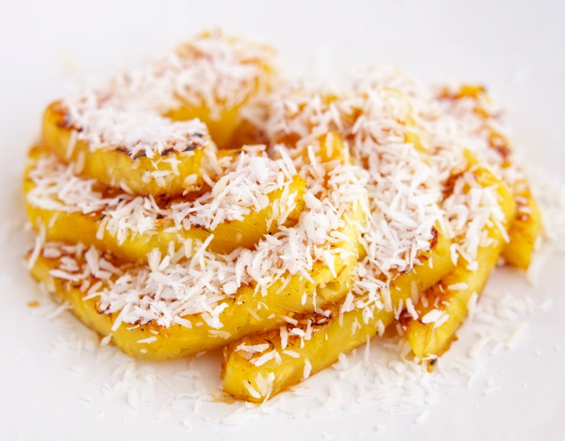 Seared Pineapple with Coconut