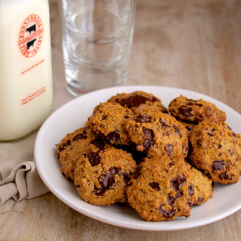 Milk & Healthier Chocolate Chip Cookies