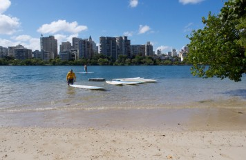 Paddleboard Set up at Velauno in Condado