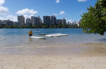Paddleboard Set up at Velauno in Condado