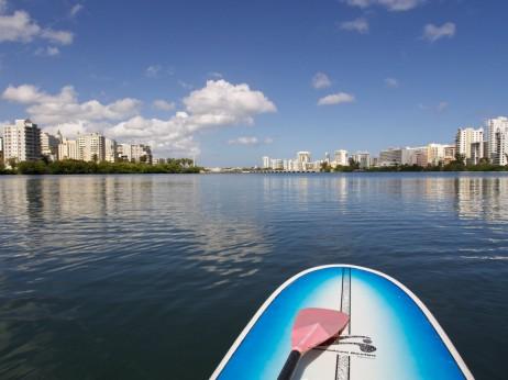 Paddleboarding in Condado