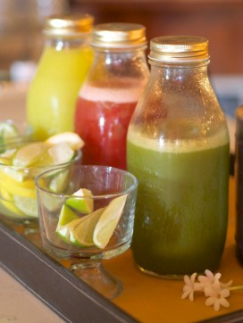 Infused Juices at the Botanical Bar