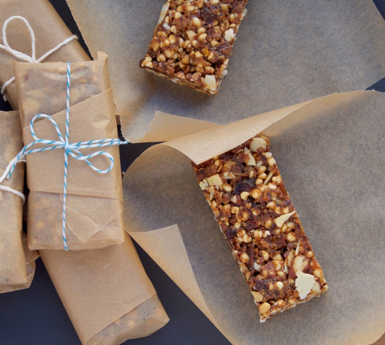 Almond & Apricot Bars with Puffed Millet