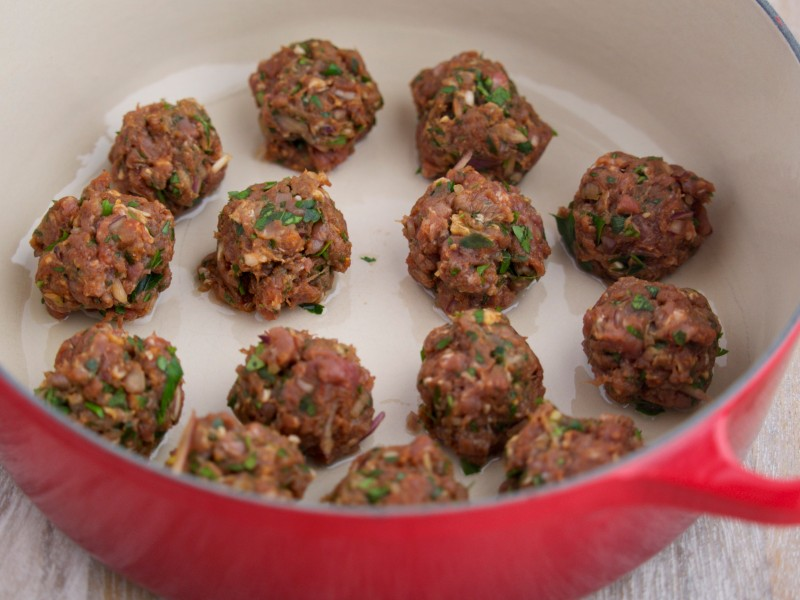 Lamb Meatballs Ready to Cook