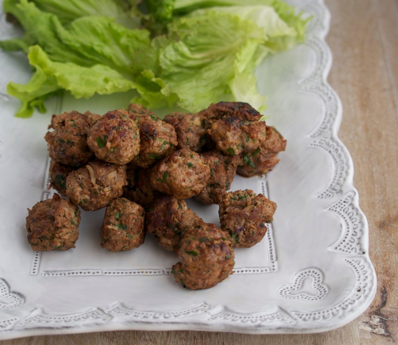 Lamb Meatballs with Lettuce