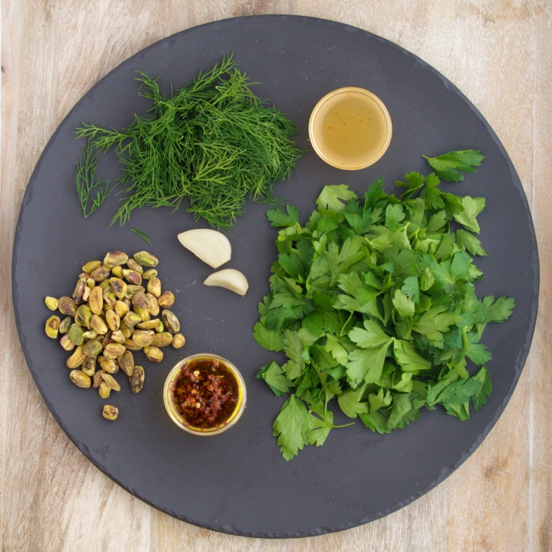 Ingredients for Early Spring Pesto