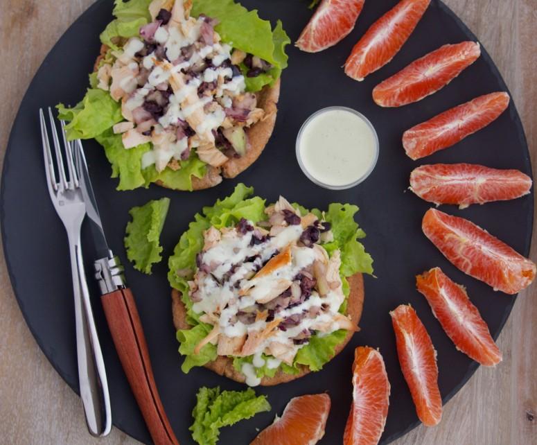 Deconstructed Pitas with Greek Chicken Salad