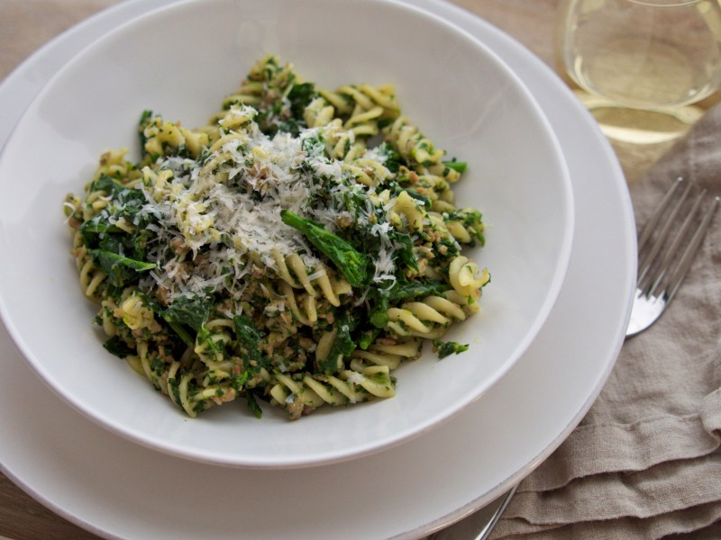 Pasta with Broccoli Rabe & Pesto