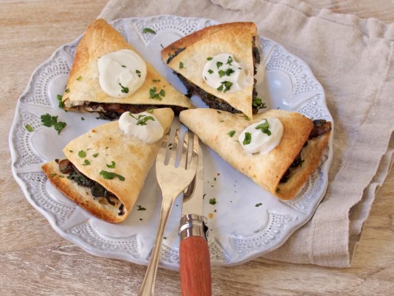 Mushroom & Swiss Chard Quesadillas Going Fast!