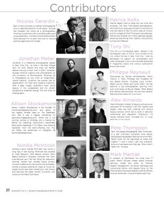 Downtown Magazine Summer 2015 Contributors