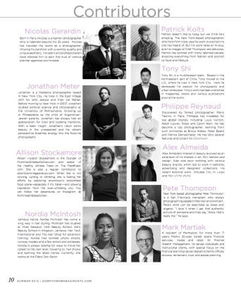 Downtown Magazine Summer 2015 Contributors