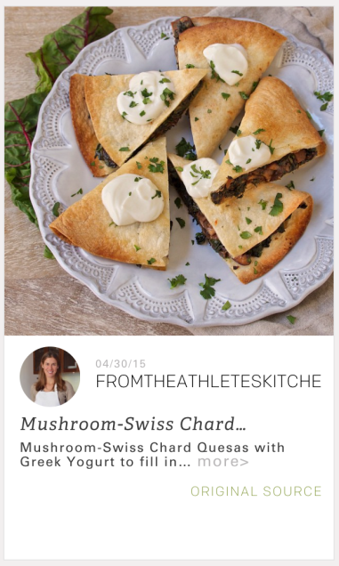 GrowNYC Feed Quesas with Mushroom & Swiss Chard