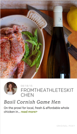 Cuesa Partner Feed Cornish Hens & Basil