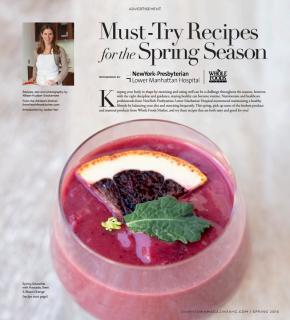 Spring Recipes for NY Presbyterian : Whole Foods Events P 1.