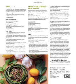 Spring Recipes for NY Presbyterian : Whole Foods Events P 4