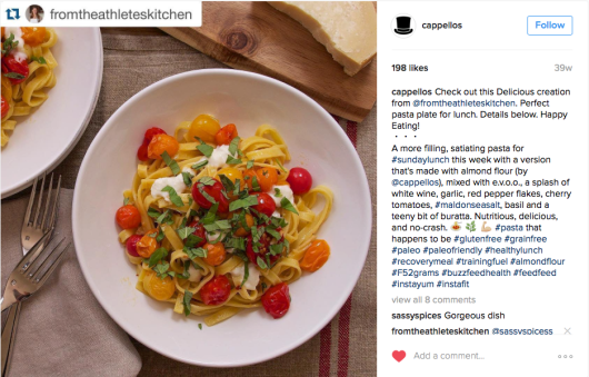 Cappellos Fettuccine w. Tomatoes & Basil