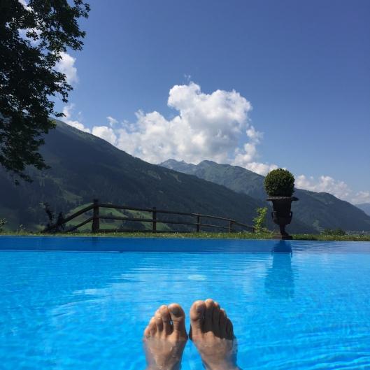 Pool & View at Schloss Mittersill, Mittersill, Austria