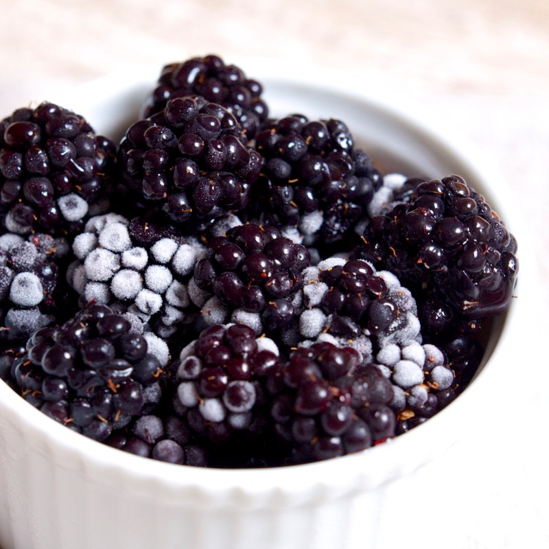 Thawing Blackberries