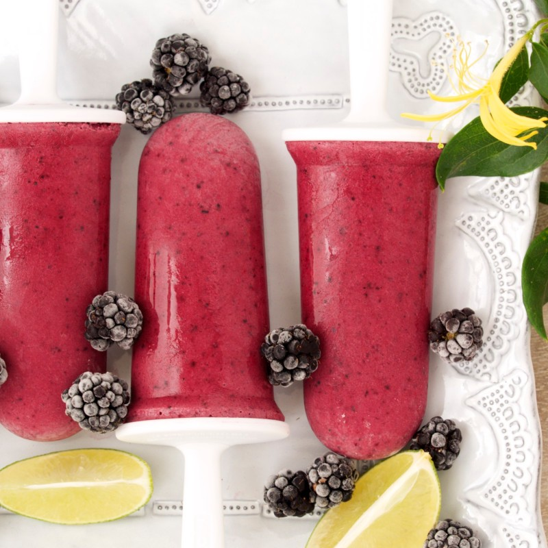 Blackberry-Coconut Pops with Lime