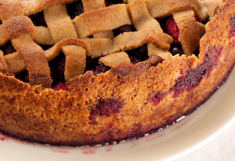 Triple Berry Tart: Crust