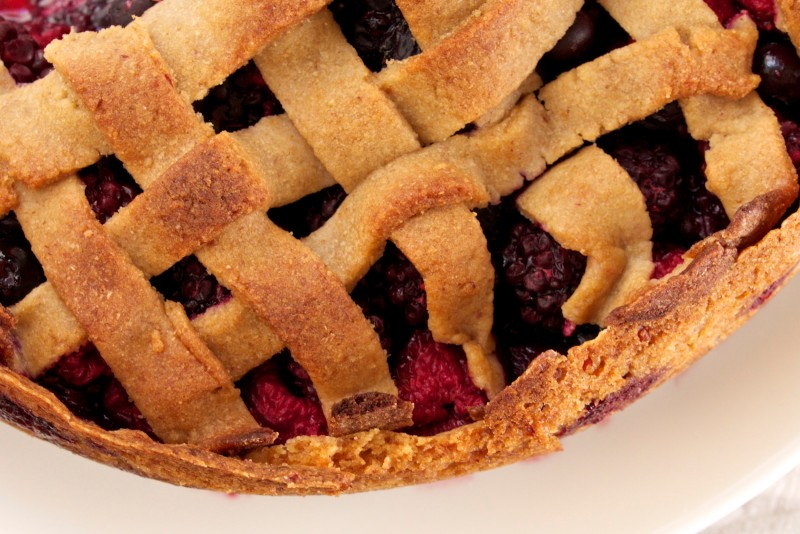 Triple Berry Tart: Lattice & Crust