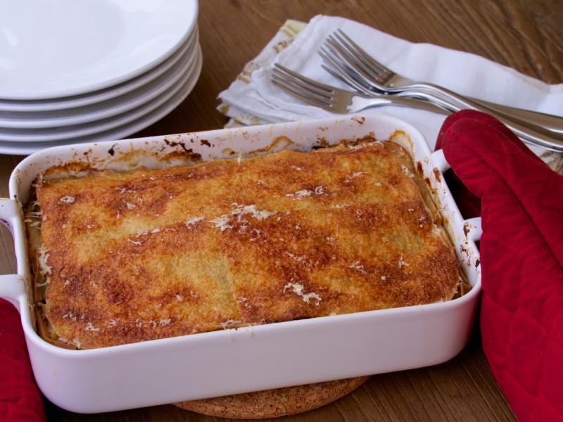 Gluten-Free Chicken & Mushroom Lasagna