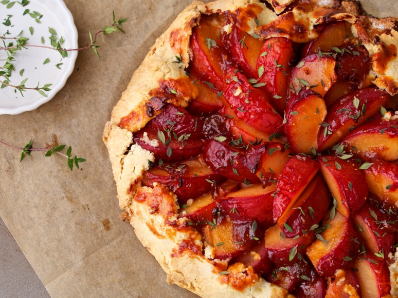 Pluot Galette with Thyme