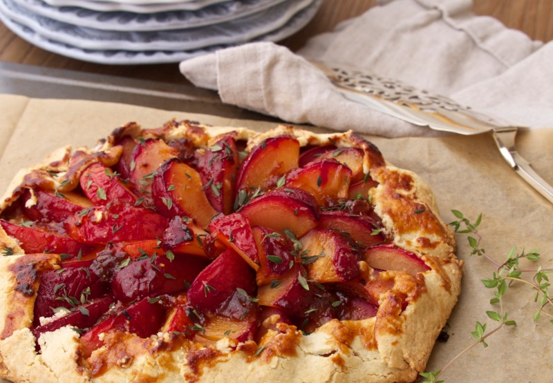 Pluot Galette for a Late Summer Party