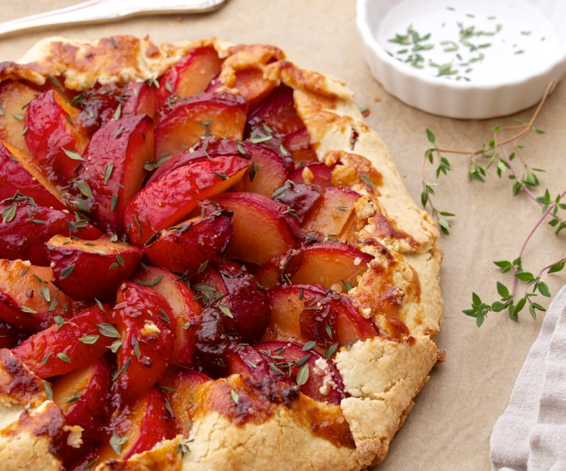 Pluot Galette for Late Summer