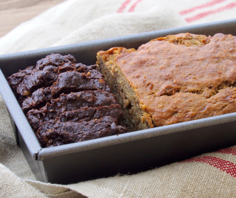 Chocolate and Original Zucchini Bread