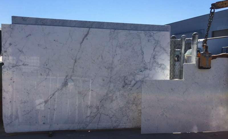 Marble Slab at RD Granite Workshop, San Jose, CA