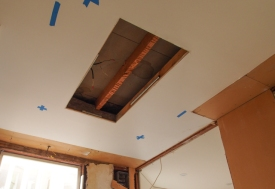 Ceiling Progression with Fluorescent Tubes & Grate Removed