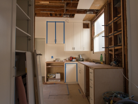 View into Kitchen Day Eight