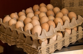 Eggs from the Mottled Javas at Clif Family Farm