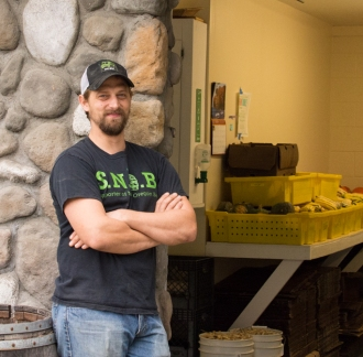 Drew Erickson, Chicken and Bee Manager at Clif Family Farm