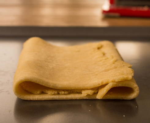 Pasta Dough, Folded and Ready to be Rolled