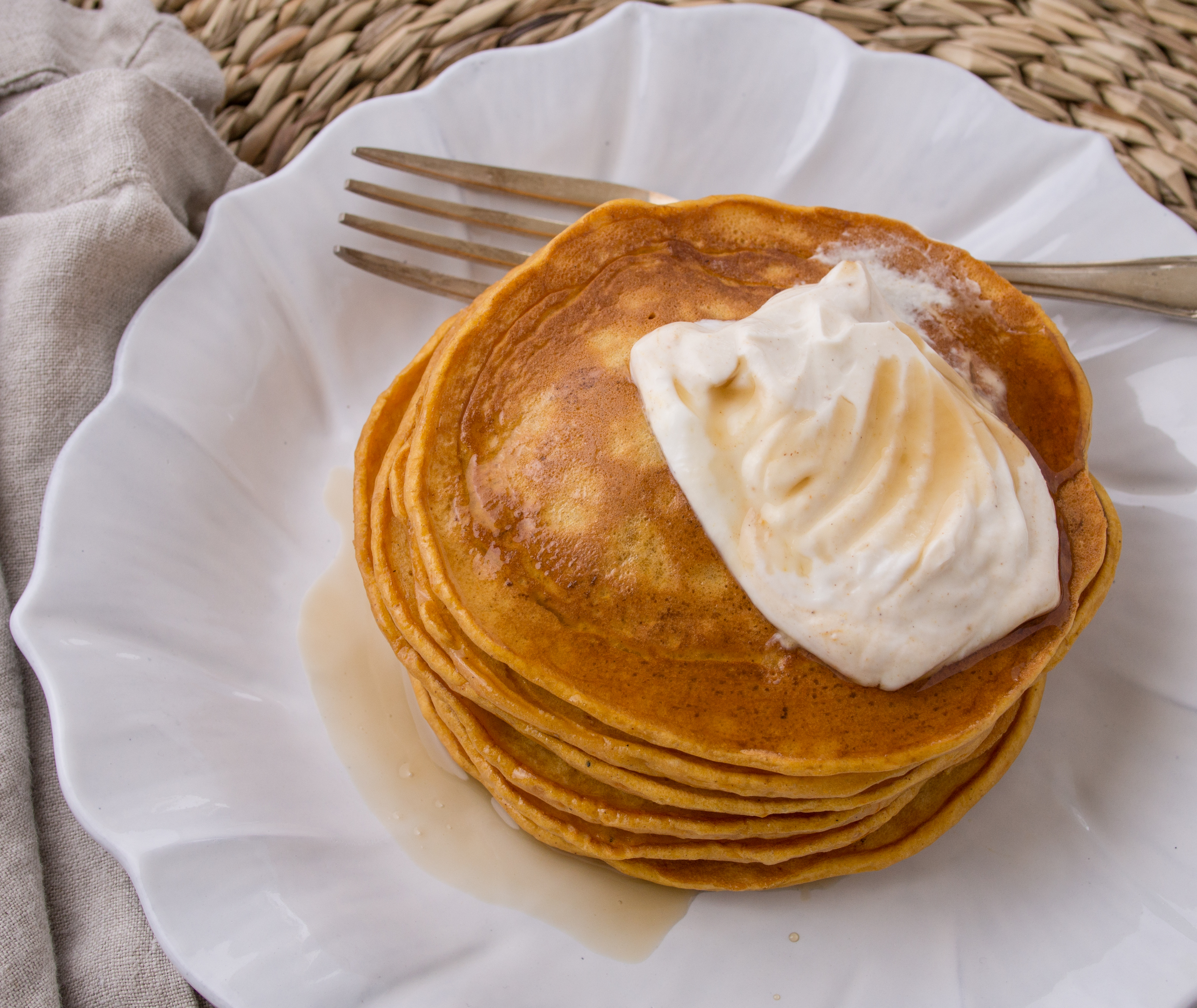 Hungry Fan™ Pumpkin Spice Protein Pancakes |