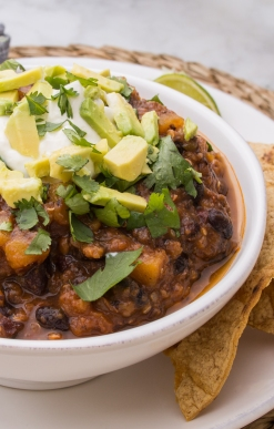 Butternut Squash Black Bean Chili Featured Image
