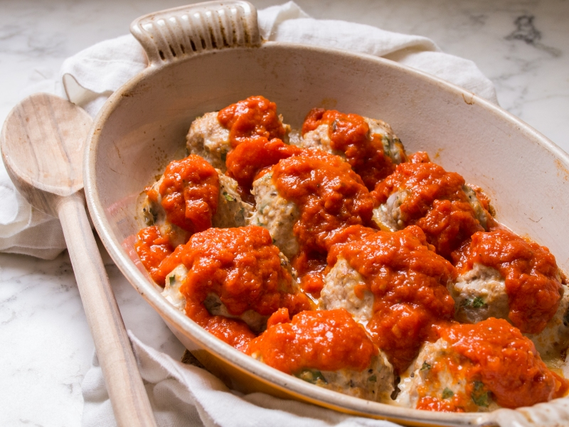 Weeknight Turkey Meatballs with Fresh Italian Herbs
