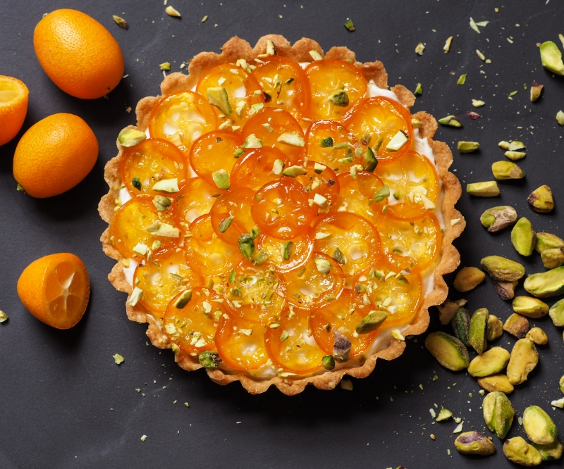 Kumquat and Greek Yogurt Tart