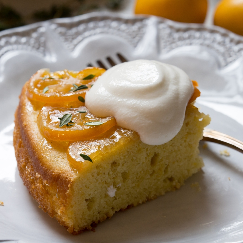 Meyer Lemon Olive Oil Cake with Whipped Greek Yogurt