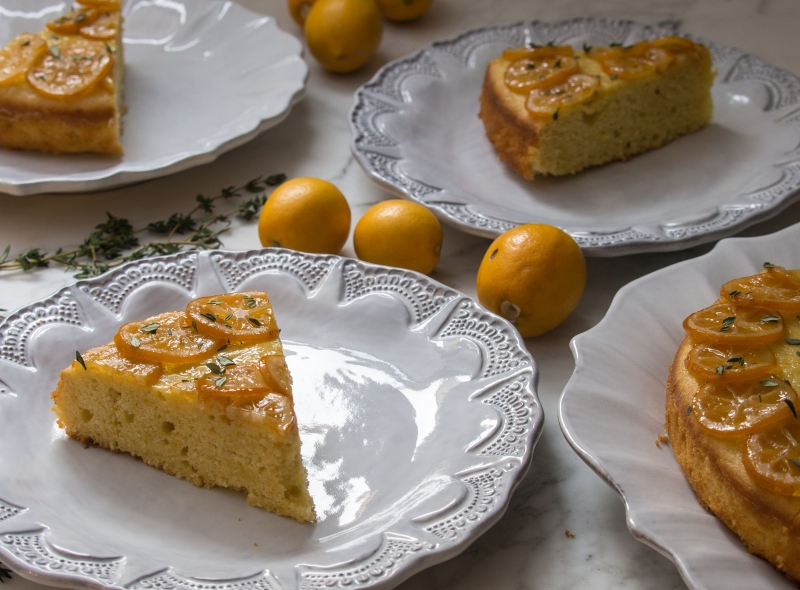 Meyer Lemon Olive Oil Cake Slices