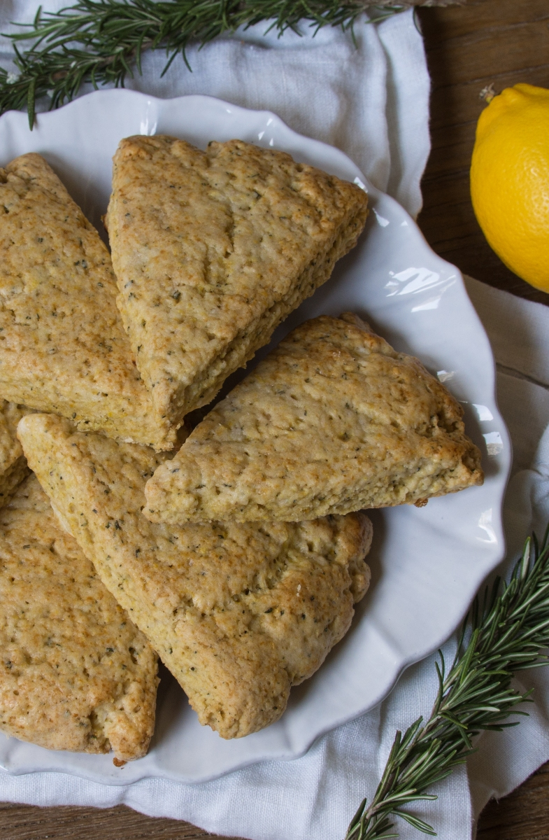Lemon & Rosemary Scones